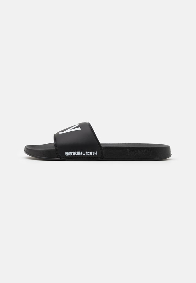 POOL SLIDE - Mules - black