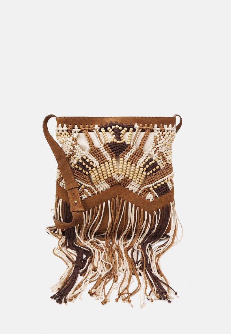 Alberta Ferretti - CROCHET SHOULDER BAG - Across body bag - brown
