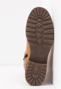 Anna Field - LEATHER WINTER BOOTIES - Kotníkové boty - cognac - 6
