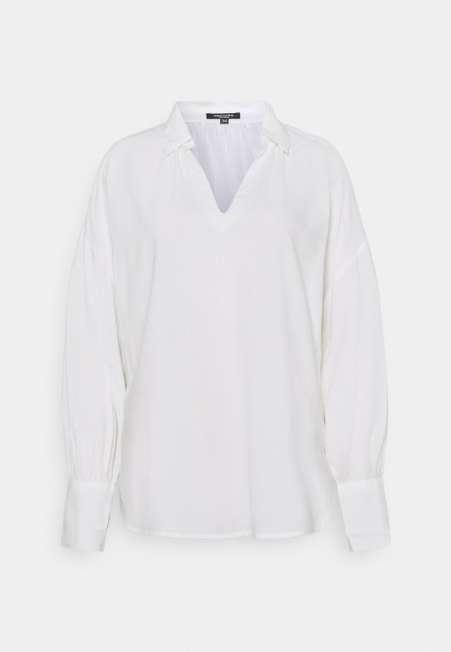 BLOUSE LOOSE SOLID - Long sleeved top - whisper white