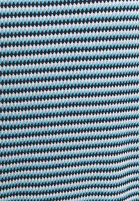 TOM TAILOR - STRUCTURE STRIPE - Print T-shirt - blue/navy/popcorn - 2
