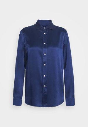 Button-down blouse - dark cobalt
