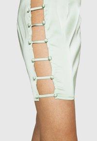 Missguided - BUTTON DOWN SIDE MINI SKIRT - Mini skirt - sage - 4