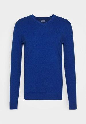 BASIC V NECK  - Strikkegenser - bright blue melange