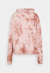 Topshop - TIE DYE HOODY - Sweatshirt - pink - 4