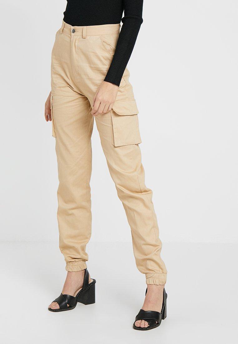 Missguided Tall - PLAIN CARGO TROUSER - Pantaloni - sand