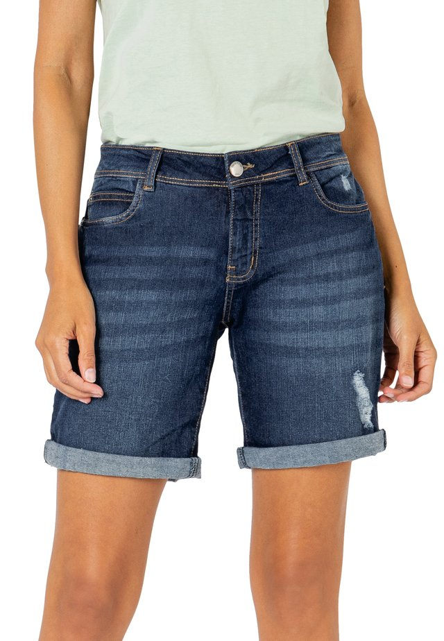 BERMUDA - Jeans Shorts - blue