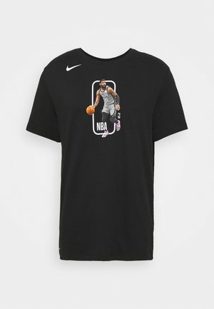 NBA BROOKLYN NETS KYRIE IRVING PLAYER LOGO TEE - T-shirt con stampa - black