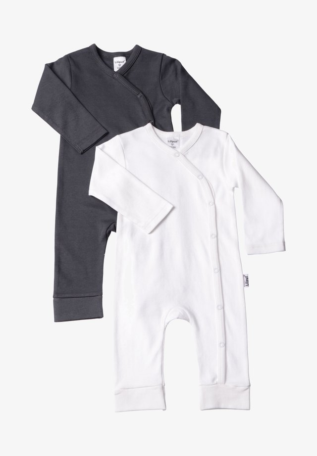 2PACK - Jumpsuit - white / anthracite