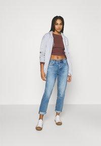 BDG Urban Outfitters - ZIP THROUGH HOODIE - Zip-up hoodie - grey marl - 1
