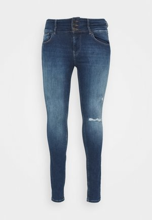 CARANNABEL LIFE - Jeans Skinny Fit - dark blue denim