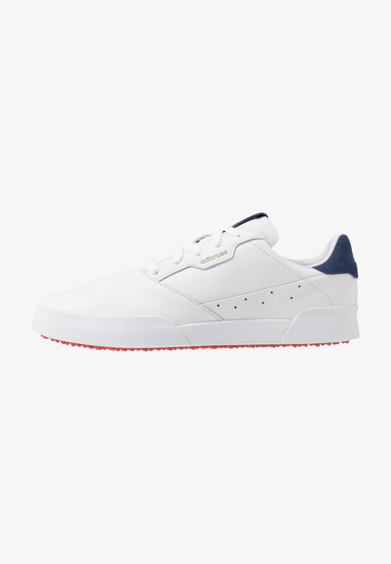 adidas Golf - ADICROSS RETRO - Golfové boty - footwear white/silver metallic/tech indigo