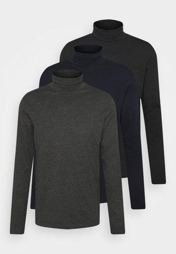 3 PACK - Långärmad tröja - dark blue/black/dark grey
