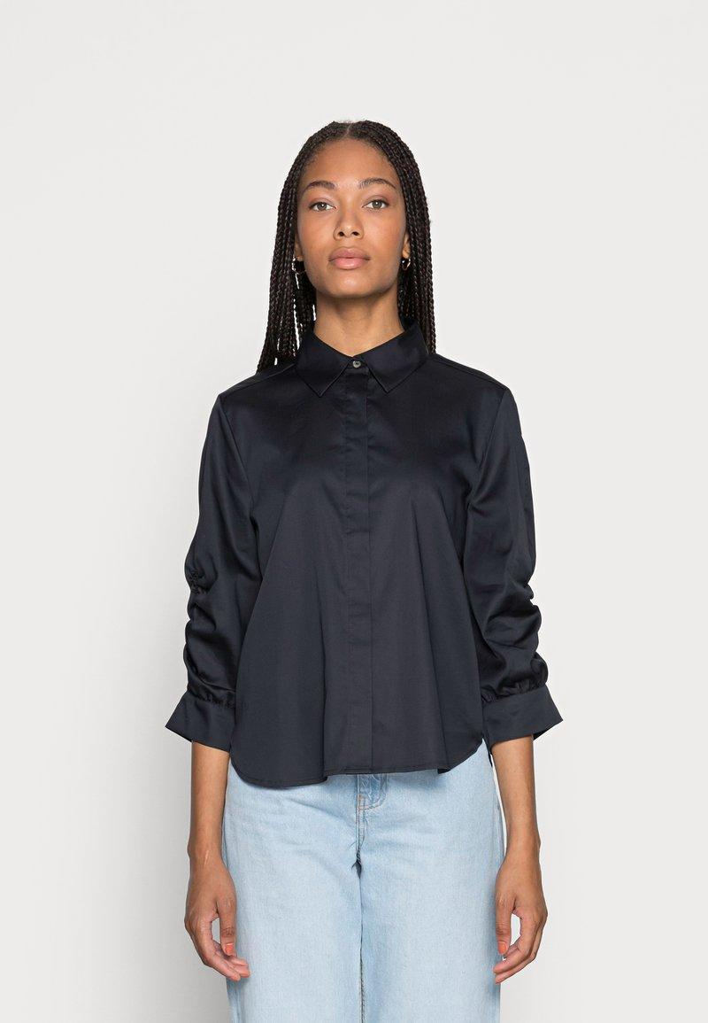 Opus - FAUSI - Button-down blouse - mystic blue