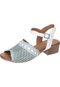 Piazza - Sandals - aqua/weiß/sand - 1