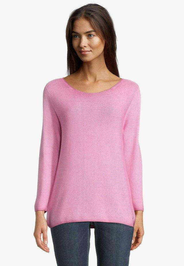 MIT STRUKTUR - Pullover - lipstick pink