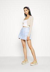 NEW girl ORDER - HELLO SKIRT - Minijupe - blue - 1