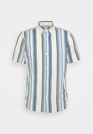 STRIPE - Shirt - blue/off-white