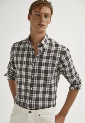 KARIERTES SLIM-FIT - Shirt - grey