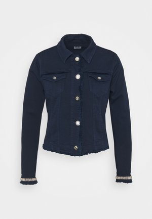 GIUBBINO DRILL - Denim jacket - night