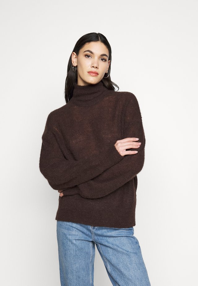 OBJIRINA TALL - Strikpullover /Striktrøjer - chicory coffee