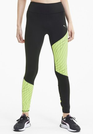 GRAPHIC - Tights - black-fizzy yellow