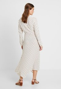 Topshop - EXTURED DOT DRESS - Day dress - cream - 2