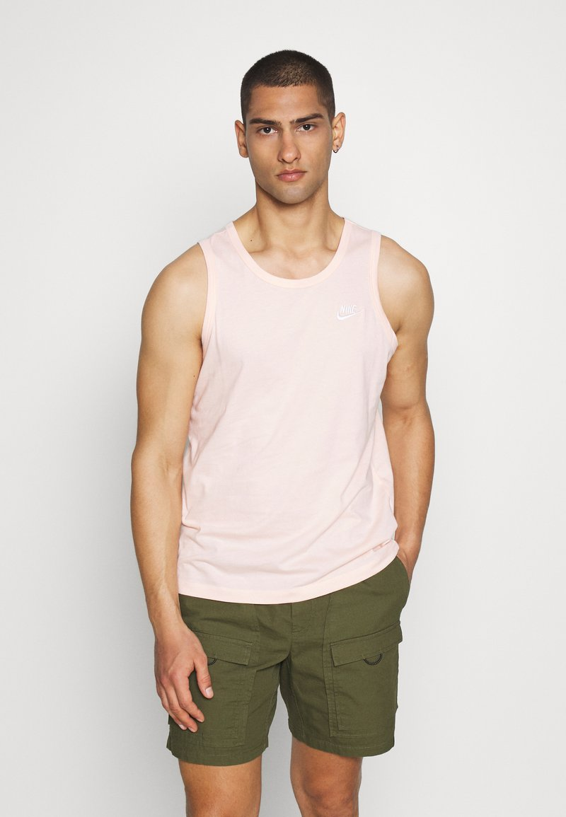 Nike Sportswear - CLUB TANK - Top - washed coral/white