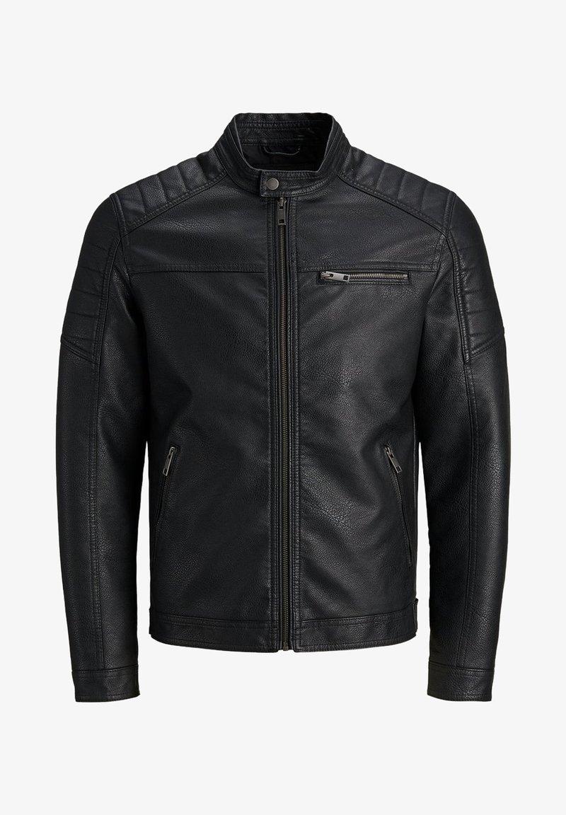 Produkt - Faux leather jacket - black