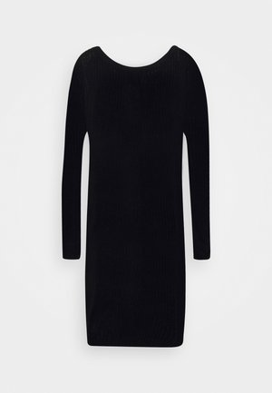 AYVAN OFF SHOULDER JUMPER DRESS - Strikkjoler - black
