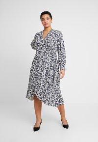 Lauren Ralph Lauren Woman - URANYA LONG SLEEVE CASUAL DRESS - Jersey dress - navy/pale cream - 0