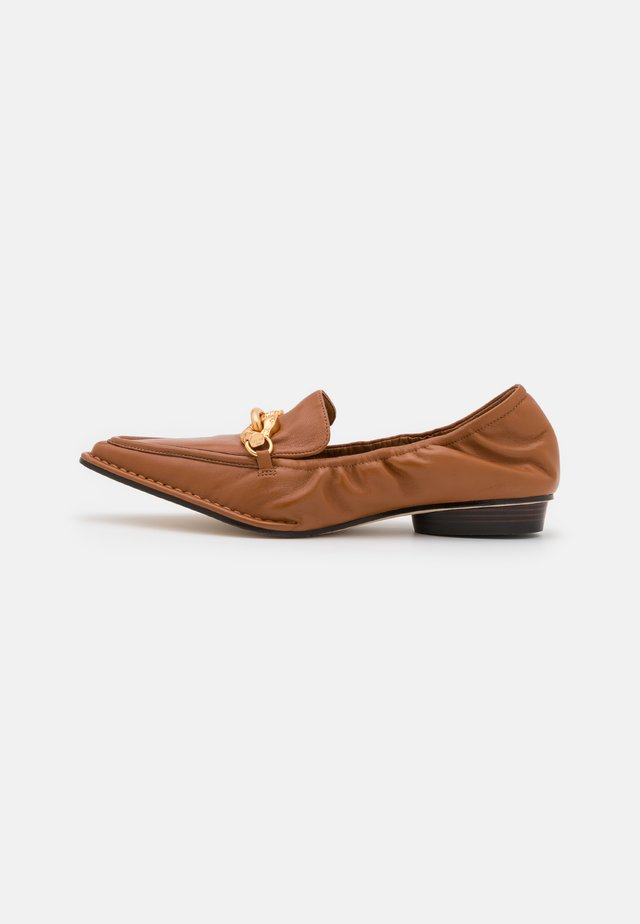 JESSA POINTY TOE LOAFER - Instappers - cinnamon brown