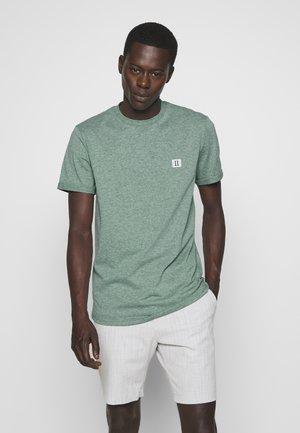 PIECE - T-shirts basic - petrol / off white