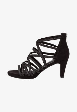 High heeled sandals - black comb