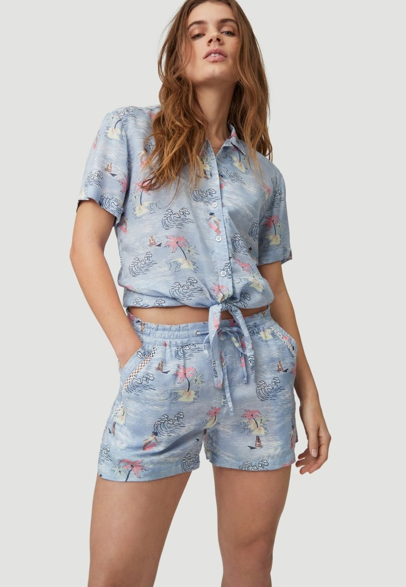O'Neill - Shorts - blue with pink or purple
