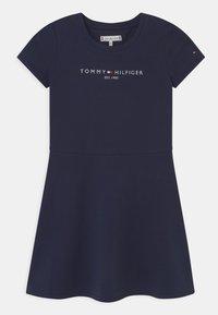 Tommy Hilfiger - ESSENTIAL SKATER  - Denní šaty - twilight navy - 0