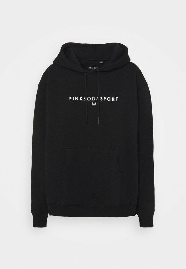 LYON HOODIE CURVE - Sweatshirt - black