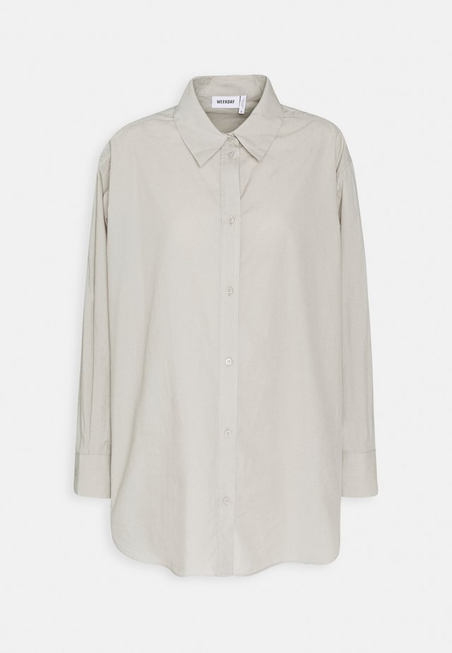 EDYN - Button-down blouse - grey mole