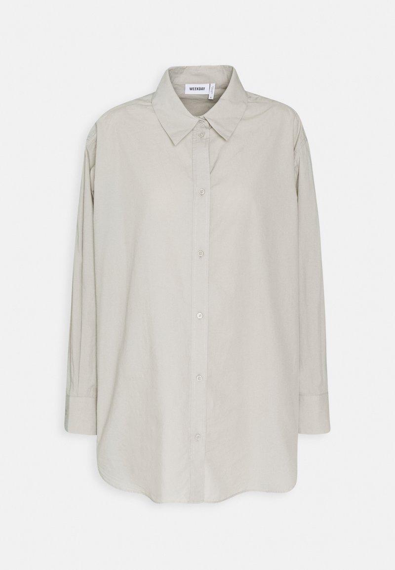 Weekday - EDYN - Button-down blouse - grey mole
