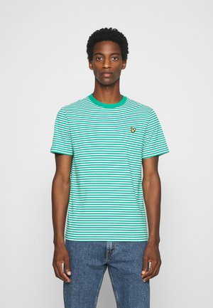 2 COLOUR STRIPE - Print T-shirt - green/white