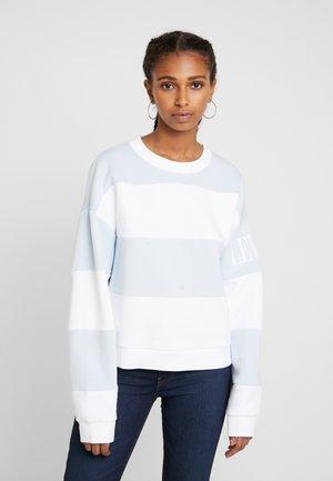 DIANA CREW - Sweatshirt - haley baby blue/white