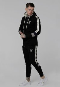 SIKSILK - OLD ENGLISH BORG QUARTER ZIP - Sweatshirt - black - 1