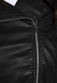 New Look Curves - BIKER - Imitert skinnjakke - black - 7