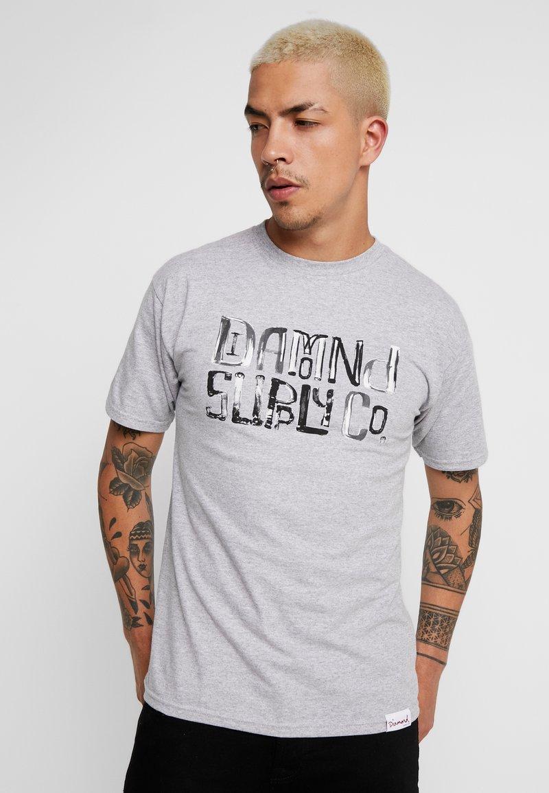 Diamond Supply Co. - DOWNTOWN SIGNATURE - Print T-shirt - heather grey