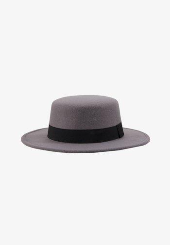 BOATER HAT - Hat - dark grey