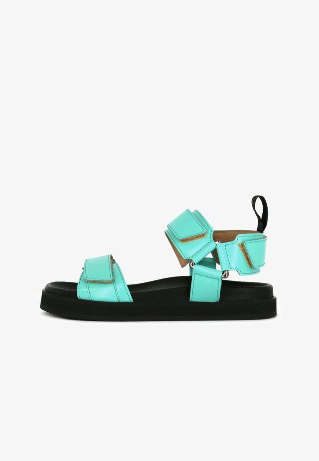 Sandalen met plateauzool - turquoise