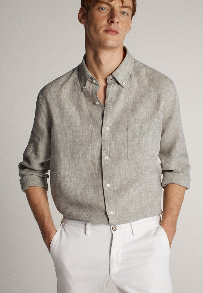 Massimo Dutti - Shirt - light grey