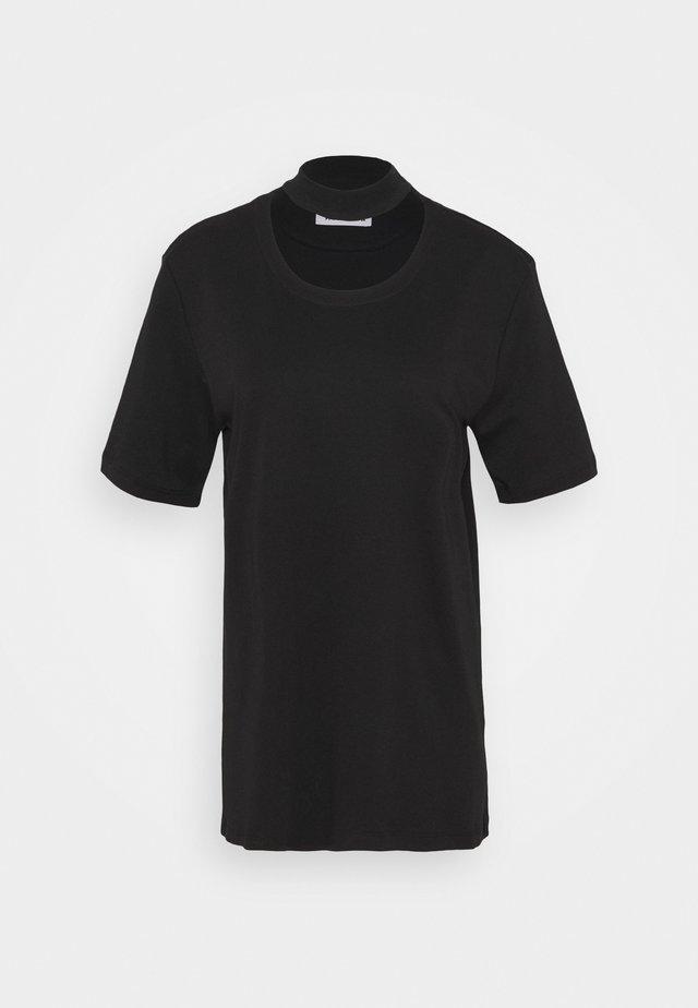 DOUBLE TOP - Print T-shirt - black