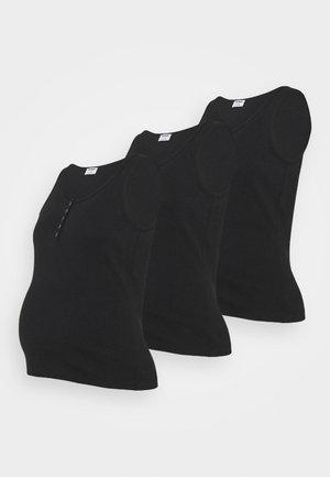 MATERNITY HENLEY SLEEVELESS TANK 3 PACK - Top - black