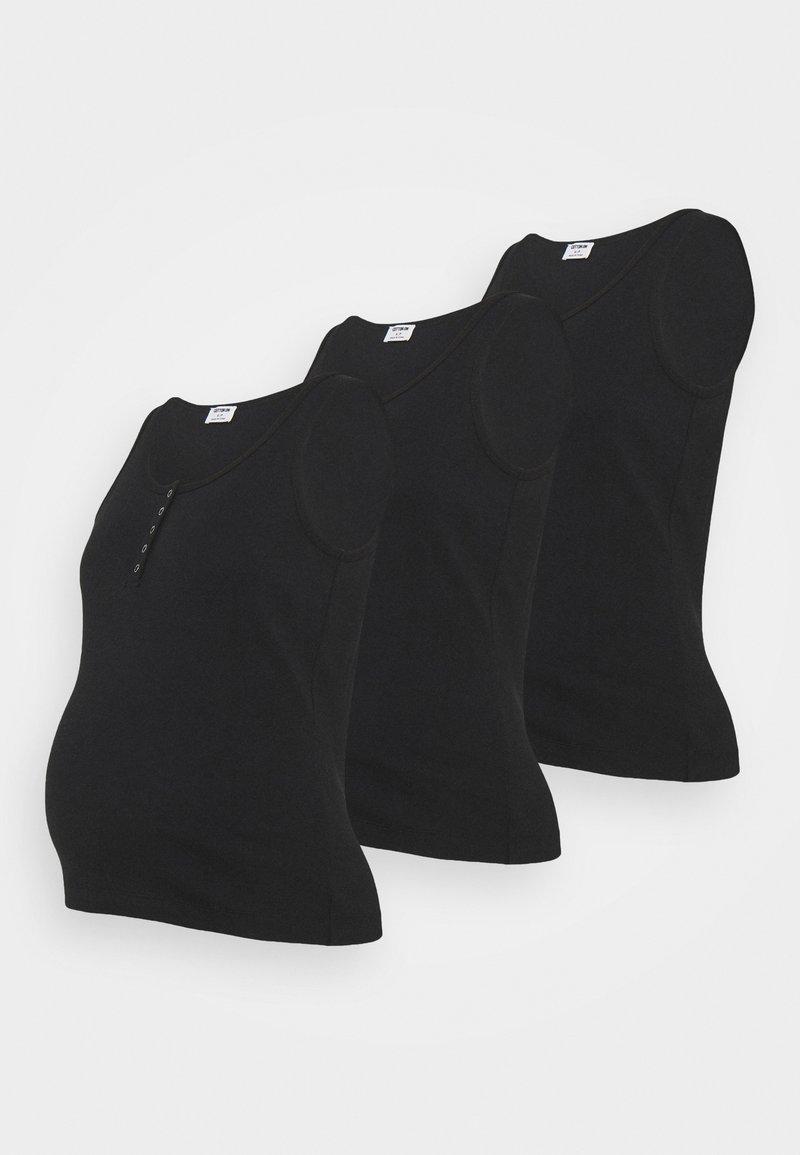 Cotton On - MATERNITY HENLEY SLEEVELESS TANK 3 PACK - Top - black